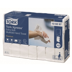 Toalha de mãos extra suave (21 maços x 100 uni)