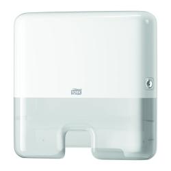 Dispensador mini de toalhas de mãos interfolha H2 branco