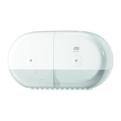 Dispensador de papel higiénico duplo mini T9 branco