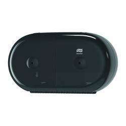 Dispensador de papel higiénico duplo mini T9 preto